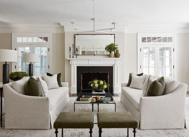 Transitional Living Room by Gemma Parker Design, LLC