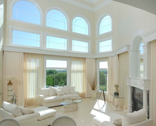 Traditional Living Room by Windsor Windows & Doors