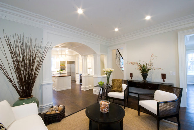 Traditional Living Room by Ridberg & Associates Architects