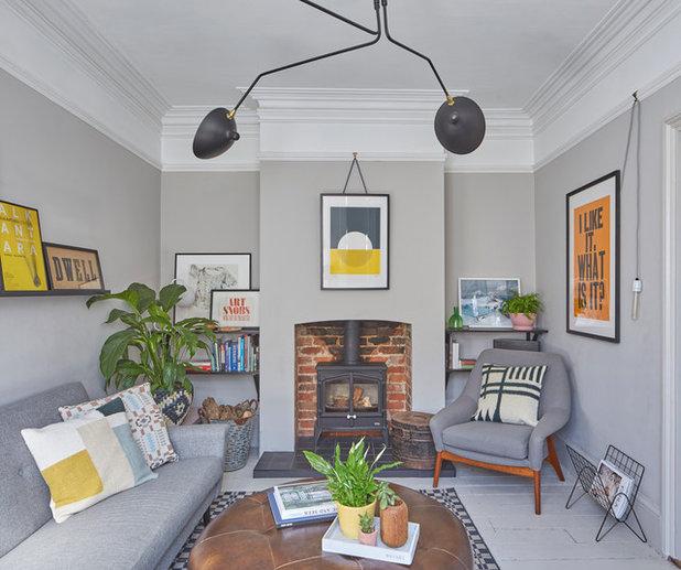 Scandinavian Living Room by An Artful Life