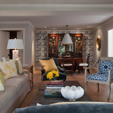 Transitional Living Room by Heydt Designs