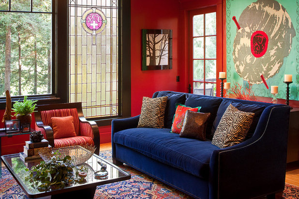 Contemporary Living Room by Suzanne Childress Design