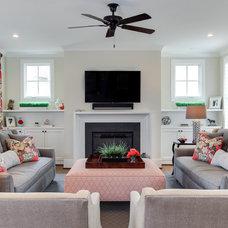 Traditional Living Room by Otrada LLC