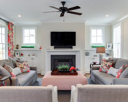 Mid Sized Traditional Formal Enclosed Living Room Idea In Raleigh With  White Walls, Light Part 10