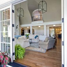 Farmhouse Living Room by Riley Custom Homes & Renovations