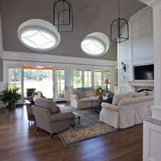 Farmhouse Living Room by Riley Custom Homes & Renovations