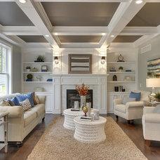 Craftsman Living Room by Kariel Staging & Decor