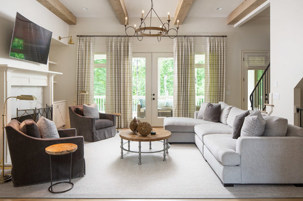 Farmhouse Living Room by New River Building Co.