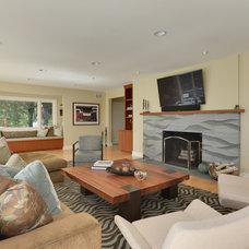 Contemporary Living Room by Karen Kempf Interiors