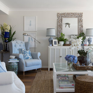 Hampton-Style Living Room Ideas & Photos | Houzz