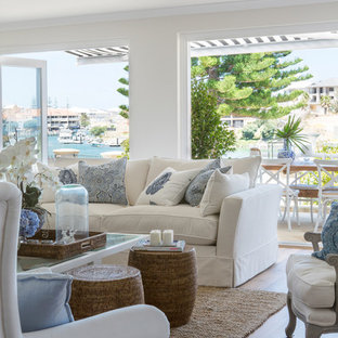 Hampton-Style Living Room Ideas & Photos | Houzz