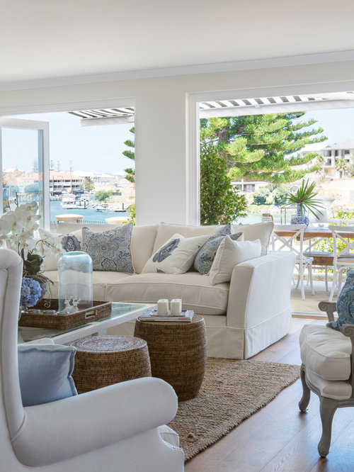 Hampton style living room ideas photos houzz for Hamptons decor