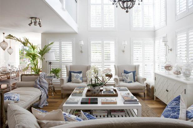 Beach Style Living Room by Indah Island