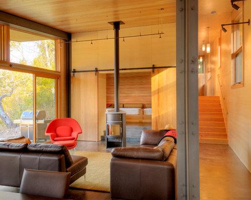 SaveEmail - Scandinavian Morso Wood Stove Houzz