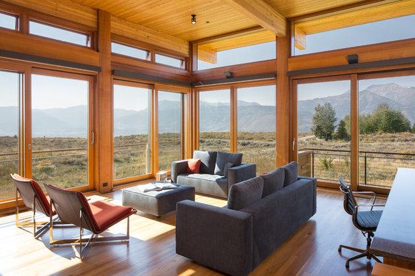 Modern Living Room by Teton Heritage Builders