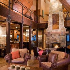 Rustic Living Room by Kogan Builders