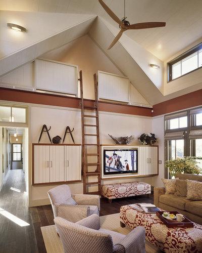 Contemporary Living Room by Interiors Studio Martha's Vineyard