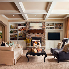 Traditional Living Room by Brooke Voss Design