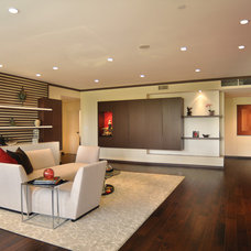 Asian Living Room by Caisson Studios