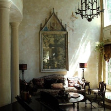 mediterranean living room by Russell Ross Design