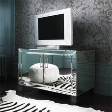 Contemporary Living Room by Mirrored furniture