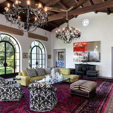 Mediterranean Family Room by David Palermo Photography