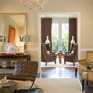 Elegant living room photo in Kansas City