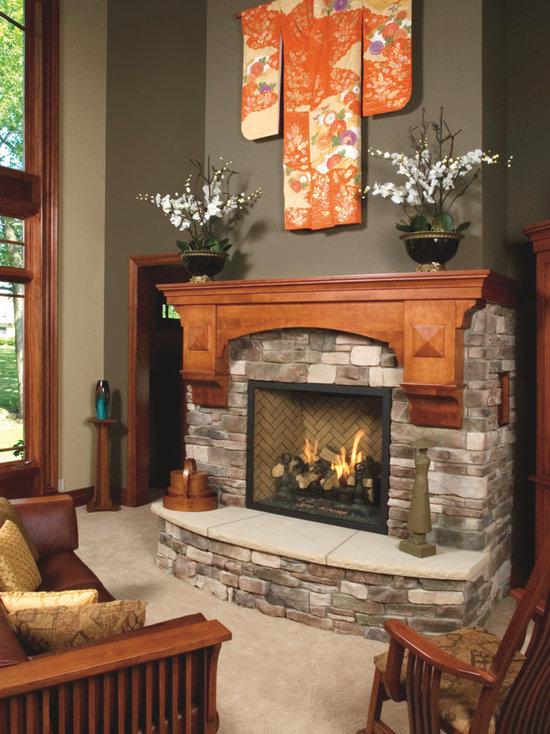 Mission Style Fireplace Houzz