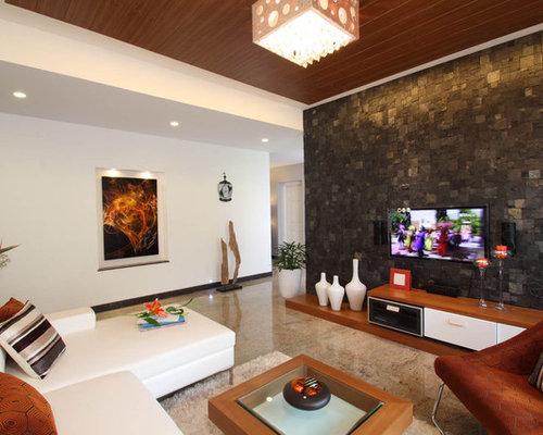 Trendy Living Room Photo In Bengaluru Part 73