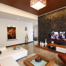 Contemporary Living Room by Savio & Rupa Interior Concepts (Bangalore)