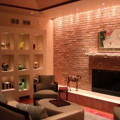 contemporary living room by Mitchell B. Kohn Lighting Design