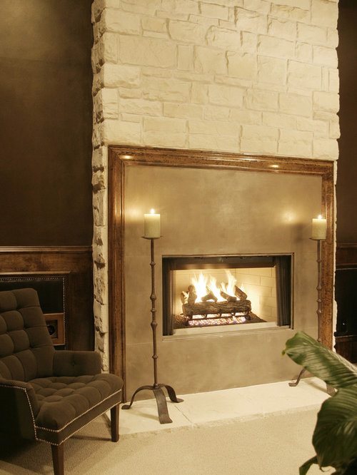 Great Stone Fireplace Timber Frame | Houzz