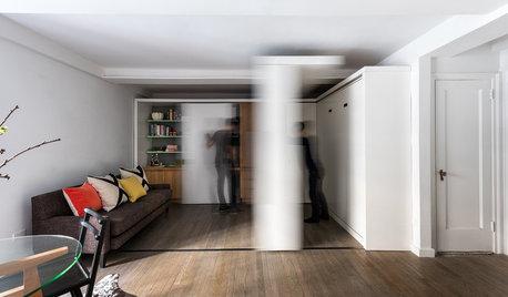 Houzz Tour: 1 Sliding Wall Creates 5 Rooms