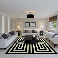 Modern Living Room by Madison Lily Rugs