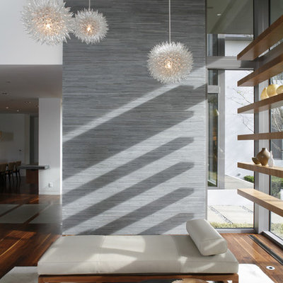 Living room - contemporary open concept living room idea in Los Angeles