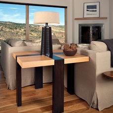 Southwestern Living Room by Karen White Interior Design