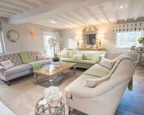 Country Living Room Ideas. Design ideas for a medium sized farmhouse enclosed living room in Cheshire  with brown walls and Country Living Room Ideas Pictures Inspiration
