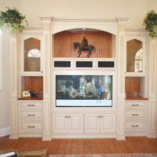 Traditional Living Room by Christi's Cabinetry