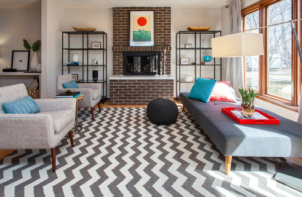 Midcentury Living Room by Nichole Staker Design Group