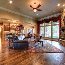 Mediterranean Living Room by Jeff Watson Homes, Inc.