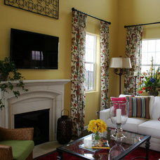 Traditional Living Room by Borden Interiors & Associates