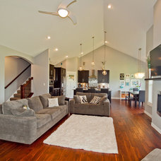 Craftsman Living Room by H2O Homes, Inc