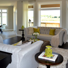 Transitional Living Room by Upstaging
