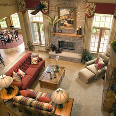 Traditional Living Room by Collaborative Design