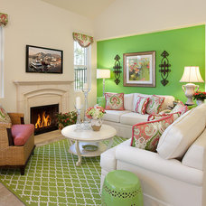 Transitional Living Room by Borden Interiors & Associates
