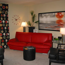 Contemporary Living Room by Terrie & Cindy