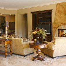 Traditional Living Room by Janelle Interiors