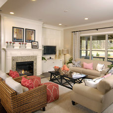 Transitional Living Room by Shea Homes Charlotte