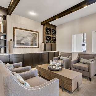 Inspiration For A Transitional Light Wood Floor Living Room Remodel In  Austin With Beige Walls And