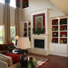 Traditional Living Room by CornerStone Homes